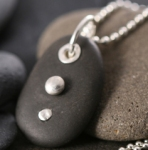 2-Drops Pebble Pendant