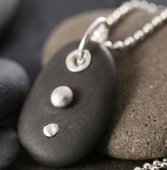 2-Drops Pebble Pendant
