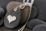Heart Pebble Pendant