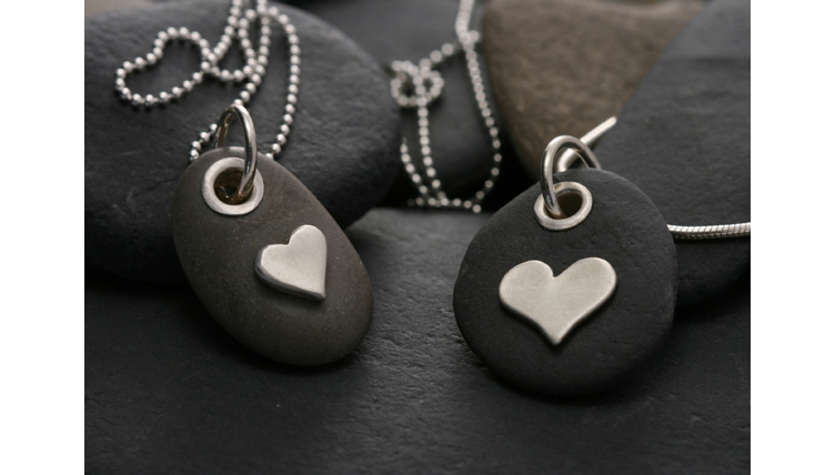 Mini Heart Pebble Pendants1