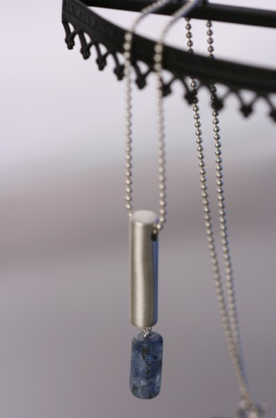 Tube Necklace with Kyanite