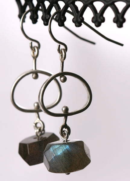 Pebble Earrings with Labradorite