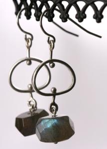 Labradorite Pebble Earrings